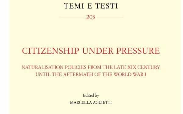 Contribution de Claire Zalc à l'ouvrage collectif Citizenship Under Pressure