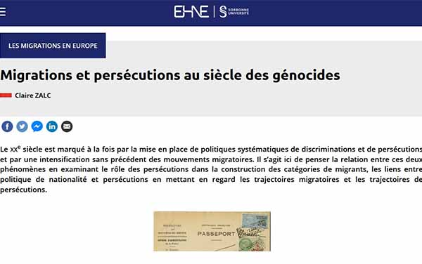 Migration and persecution in the century of genocide